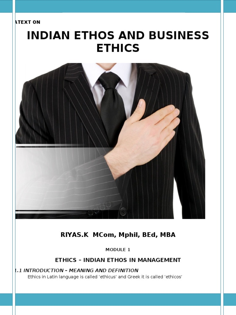 Definition of ethos in business?