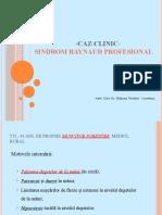LP - Sdr. Raynaud prof. - caz clinic-