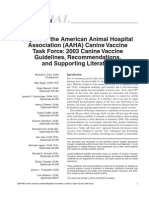 AAHA Vaccination Guidelines