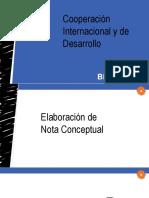Elaboración de Nota Conceptual