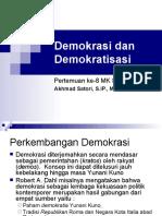 Demokrasi Dan Demokratisasi