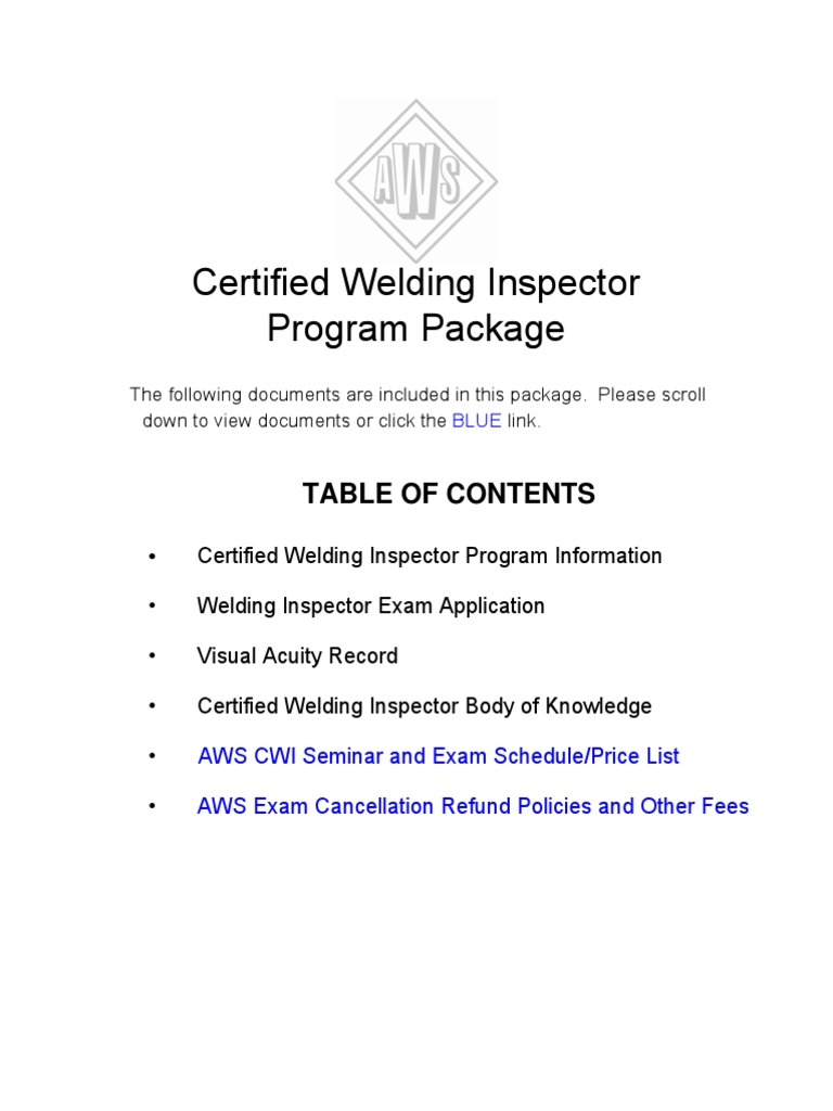 CWI AWS-CWI Application form | Professional Certification | Test  (Assessment)