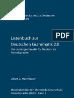 1-Deutsche Grammatik 20 - Listenbuch