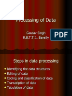 Processing of Data