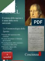 2. Hegel. La Fenomenologia dello spirito