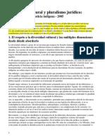 3- Silvina Ramírez - Diversidad cultural y pluralismo jurídico