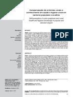Autopercepción de Los Síntomas de La Voz y Conocimientos de Salud e Higiene Vocal en Cantantes Populares y Clásicos