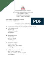 Exercício 1 - Matheus E S Guimarães