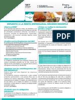Cartilla Informativa Sobre El IRE RESIMPLE