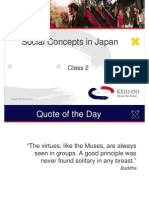 Class 2_Social Concepts in Japan