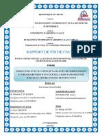 Rapport  KOBA Tém-douan Félicité