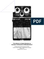 scriptie - the influence of guitar distortion on harmonic construction in alternative rock - definitief