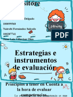 Estrategias e instrumentos de evaluacion
