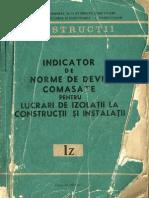 IZ - Indicator de Norme de Deviz pentru Lucrari de Izolatii