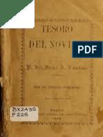 Tesoro del novicio.- R. P. Fr. José A. Fariña