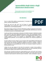 Codice di responsabilità degli eletti e amministratori democratici