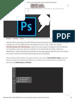 Cómo usar la herramienta dedo, enfocar y desenfocar de Photoshop