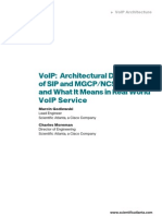 Architectural differences SIP and MGCP