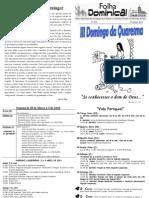 Folha Paroquial Vale S. Martinho (4309 - 27 Março 2011