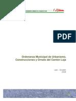 ORD MUNI URBANISMO CONSTRUCCION Y ORNATO