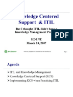 Knowledge centered support & ITIL