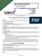 Minutes of APCM 2010