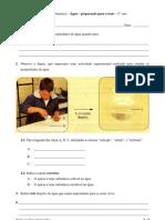 Água - revisões - Ficha de CN - 5.º ano
