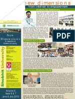 Shobhit University Newsletter Vol 3 Issue 6 & 7