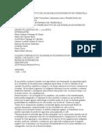 CUADRO COMPARATIVO DE LOS MODELOS ECONÓMICOS DE VENEZUELA