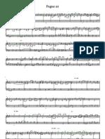 作业赋格 - 完整乐谱