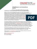 www.onlinetexte.com - Pressemeldung 2011-14 - Wie heimische Wildpflanzen von heimischem Onlinetext profitieren