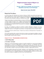 Reglementation Import Export 2019