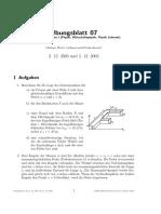 Grundlagen der Physik I [Uni Ulm] Übung+Lösung07