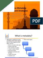 ETIS11 - Enterprise Metadata Management Strategies
