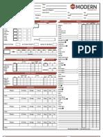 MI - D20 Modern Character Sheet