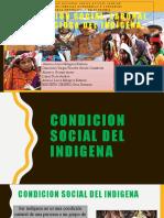 condición social, laboral y religiosa del indigena