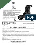 Presto FlipSide Belgian Waffle Maker Manual