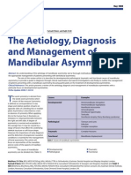 The A Etiology, Diagnosis and Management of Mandibular Asymmetry