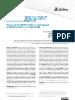 Atendimento odontológico em tempos de COVID-19: compartilhando boas práticas protetivas e de biossegurança