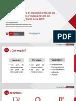 PPT VC LICENCIAS, PERMISOS Y VACACIONES DOCENTE