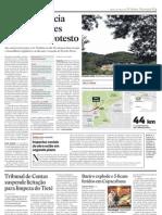 Matéria do Estadão de 02/04 sobre o Rodoanel Trecho Norte pág.C3