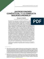 Akerlof, 2002 - La macroeconomía conductual y la conducta macroeconómica