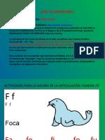 ACTIVIDADES MEJORA FONEMA F
