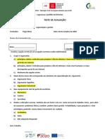 Teste de avaliação - UFCD 0626corrigenda