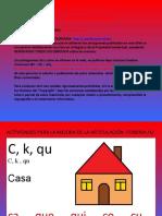 ACTIVIDADES MEJORA FONEMA K