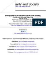 Hostage Posting as a Mechanism of Trust