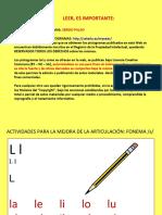 ACTIVIDADES MEJORA FONEMA L