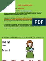 ACTIVIDADES MEJORA FONEMA M