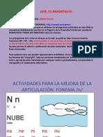 ACTIVIDADES MEJORA FONEMA N