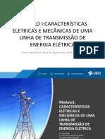 Modulo Icaracterísticas Elétricas e Mecânicas de Uma Linha de Transmissão de Energia Elétrica